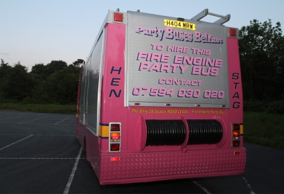Pink Fire Engine Party Bus Hire, County Down