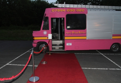 Pink Fire Engine Party Bus Hire, Northern Ireland